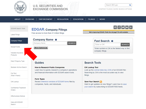 Image showing EDGAR Search Tools