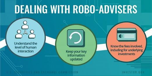 Dealing with robo-advisers. Understand the level of human interaction. Keep your key information updated. Know the fees involved, including for underlying investments.